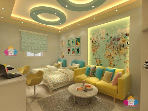 احدث الوان غرف اطفال  اولاد مودرن رائعه 2021