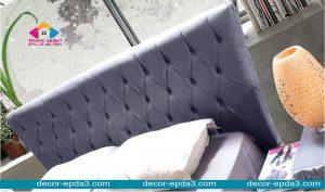 سرير مودرن باللون الاسود