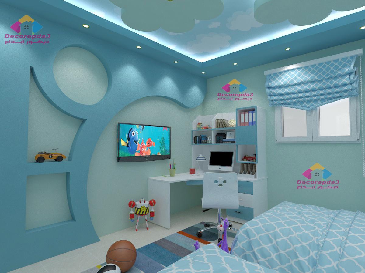 غرف نوم أطفال اولاد تناسب كل المساحات وبألوان مبهجة ديكور ابداع
